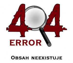 error 404 obsah neexistuje
